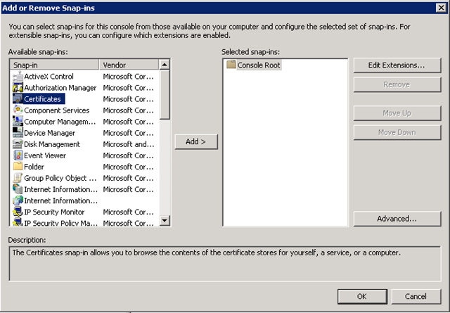 More User Profile Sync issues in SP2010: Certificate