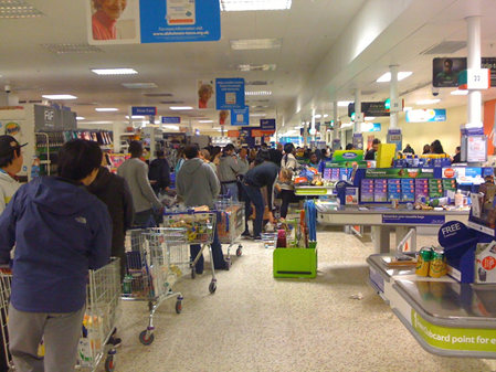 waiting line management in supermarket Introduction to management science (10th flylibcom the single-server waiting line system previous page table of because it is quicker than a supermarket.