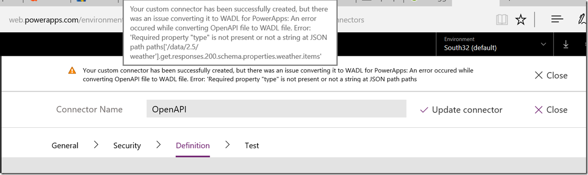 How's the weather? Using a public API with PowerApps (part 1