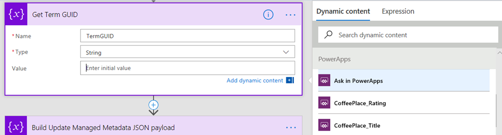 PowerApps, Flow and Managed Metadata fields–part 4