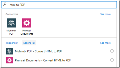 Three ways to convert HTML to PDF using Microsoft Flow