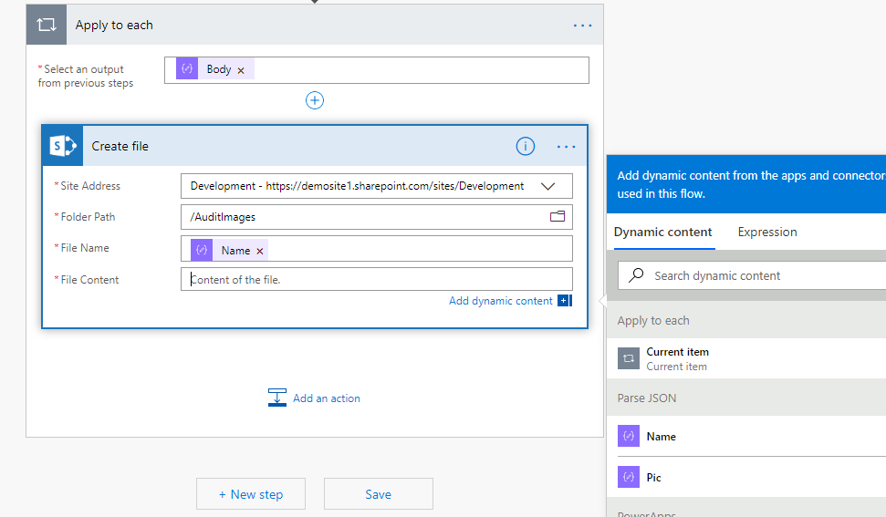 Getting pics to SharePoint from PowerApps is getting easier